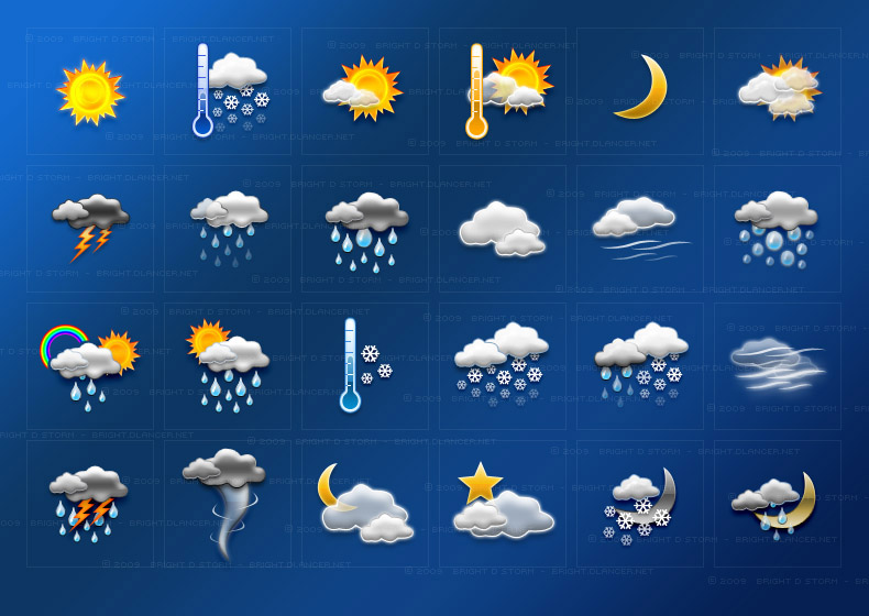 Here s the updated version of the weather icons 24 total so far all
